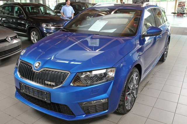 skoda octavia combi rs raceblau metallic. Black Bedroom Furniture Sets. Home Design Ideas
