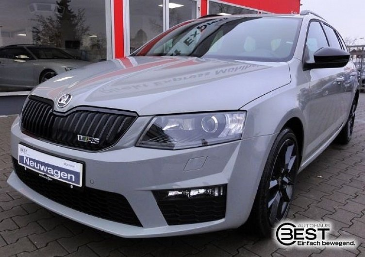 skoda octavia combi rs steel grey gebraucht. Black Bedroom Furniture Sets. Home Design Ideas