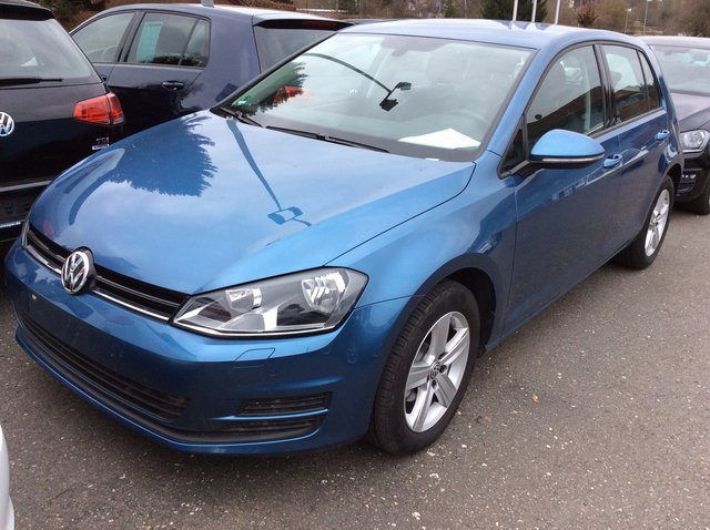 Vw Golf 7 Bluemotion Pacific Blau Metallic Gebraucht